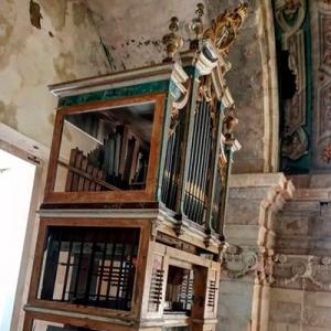 Órgão histórico Machado da igreja de Santa Quitéria de Meca, foto Samuel Vieira, 2021