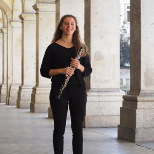 Andreia Castro, oboé, natural de Cortegaça