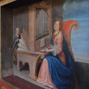 Organista e foleira, mosteiro de Arouca