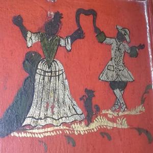 Fidalgos dançando, no coro alto do Museu de Aveiro
