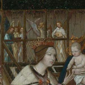 Casamento Místico de Santa Catarina (pormenor da tribuna com músicos em segundo plano)