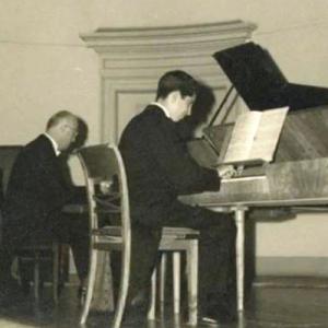 João Ranita da Nazaré e Santiago Kastner em concerto no Conservatório Nacional em 1960