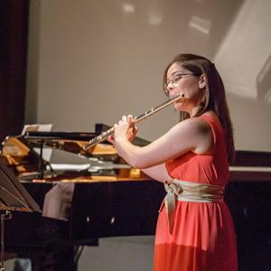 Sofia Silva, flautista, de Maceira de Leiria