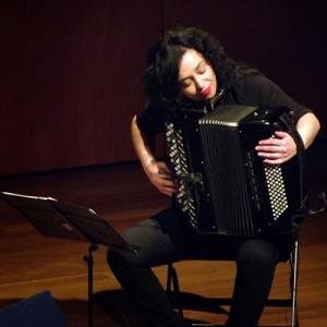 Fátima Santos, acordeonista, de Oliveira do Hospital