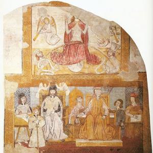 Fresco do antigo Tribunal de Reguengos de Monsaraz