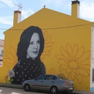 Mural de Amália, na Praia da Amália, Brejão, créditos Viaje Comigo