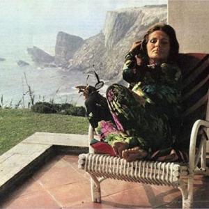 Amália Rodrigues, na casa de férias, Brejão