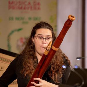 Joana Almeida, fagote, de Vale de Cambra