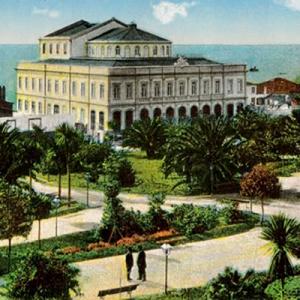 Teatro Municipal Baltazar Dias, Funchal, postal antigo