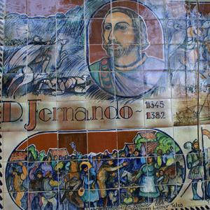 Painéis de azulejo de Alberto Cedrón, Funchal, créditos Glosas